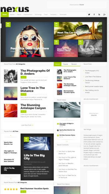 Measurements WordPress Themes  Elegant Themes