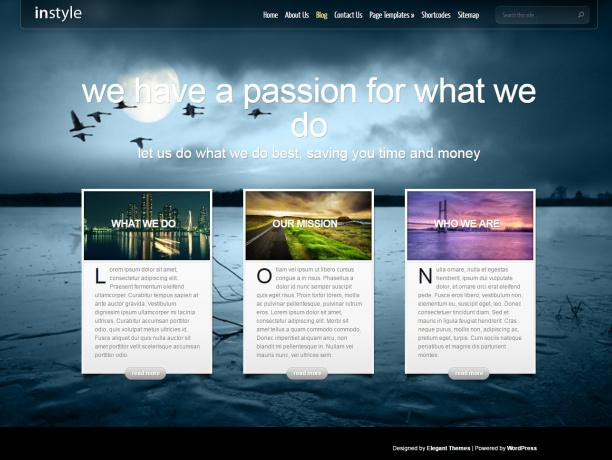 Colors Specs WordPress Themes Elegant Themes