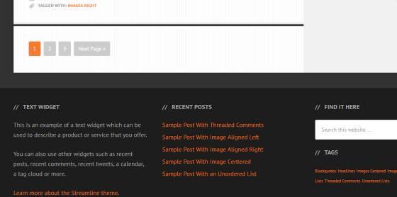Footer Widgets - Streamline Pro for Genesis Framework