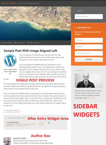 Streamline Pro Single Post Preview - After Entry and Sidebr Widgets