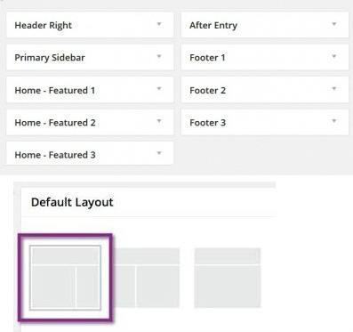Streamline Pro Widget Areas and Layouts