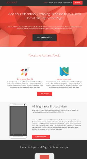 Size Comparison WordPress Themes