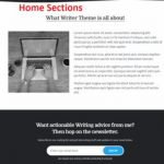 Writer Theme - Home Sections