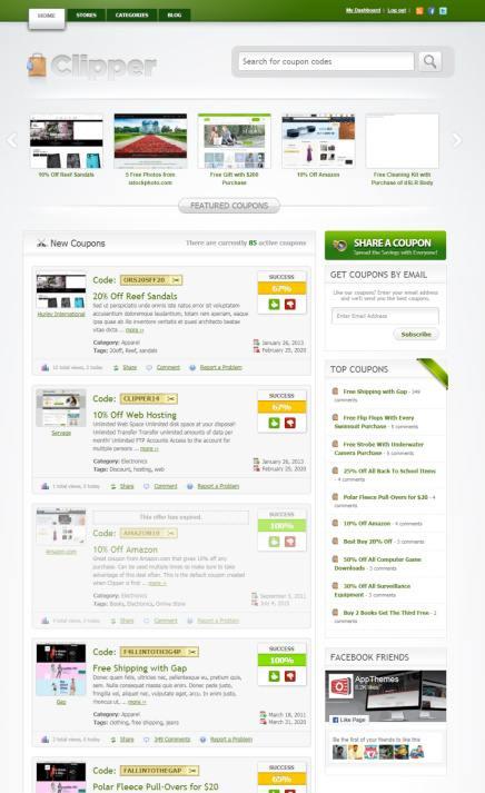 Clipper Coupon WordPress Theme - AppThemes