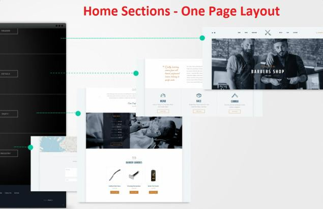 One Page Layout - Parlor ThemeFuse