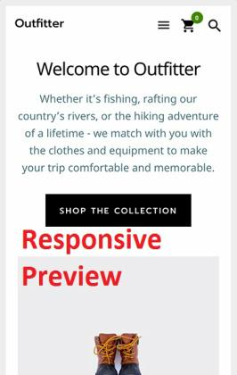 Outfitter Pro Mobile Responsive