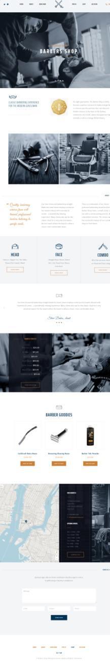Parlor Demo - The Core ThemeFuse Barber Shop WordPress Theme