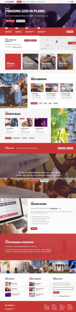 Saved Church WordPress Theme - by ChurchThemes