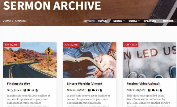 Sermons Archive Page - Saved