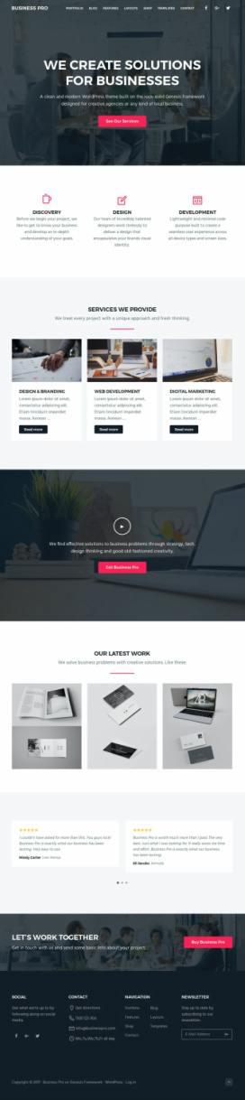 Business Pro  - SEO Themes StudioPress