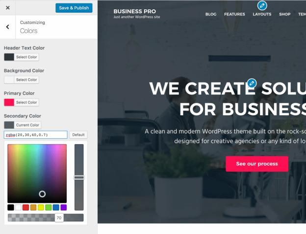 Color Options - Business Pro