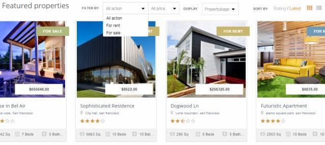 Custom Modules - EstateEngine Featured Properties on Homepage