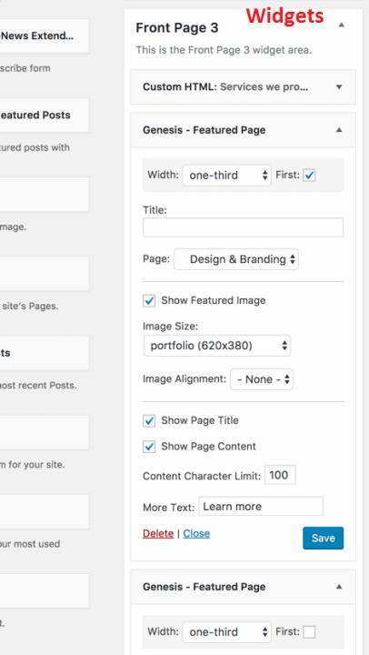 Featured Page Genesis Widget - Business Pro
