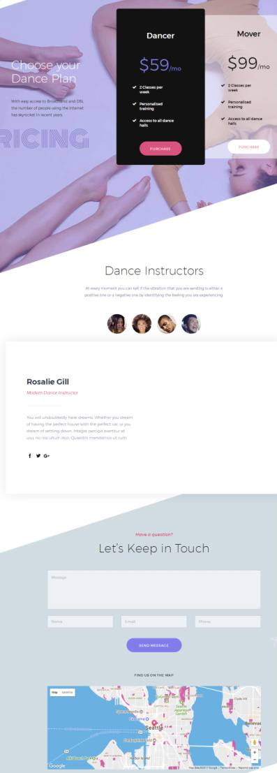 Moves Single Page Dance Template