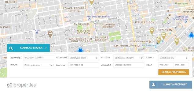 Property Map with Advanced Search - EstateEngine