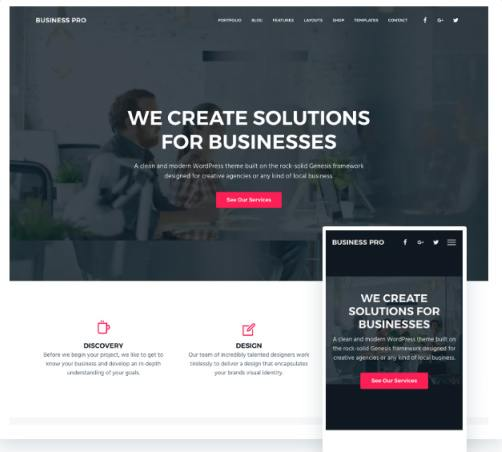 Responsive - Business Pro Genesis Theme by SEO Themes