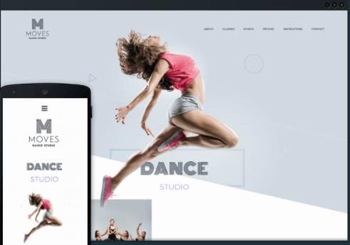 Responsive Dance WordPress Theme - Move