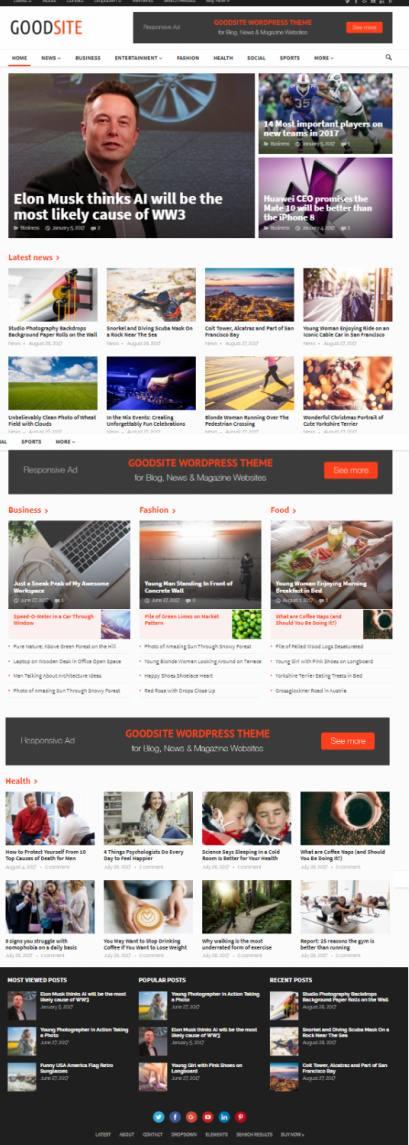 GoodSite HappyThemes - Magazine WordPress Theme