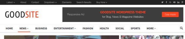 Header Menus - GoodSite Magazine Theme