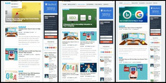 Homepage Layouts - Standard Happy Themes