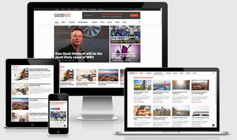 Responsive Magazine Theme - GoodSite