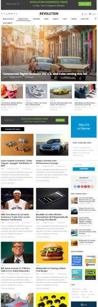 Revolution WordPress Blog Magazine Theme - HappyThemes