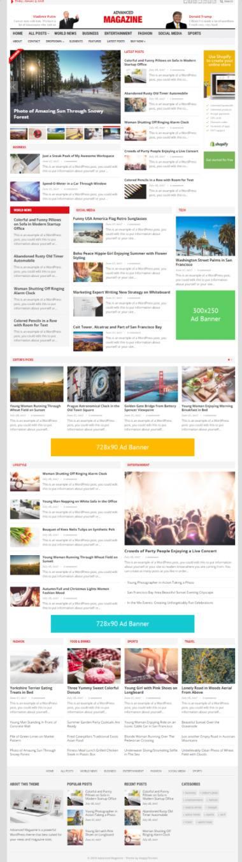 Advanced Magazine WordPress Theme - HappyThemes