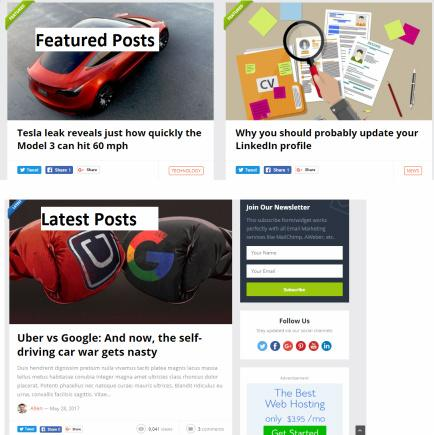 Featured Posts and Latest Posts - PureLife Homepage