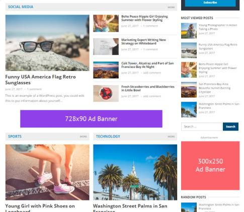 Frontpage Widget Sections - NewsNow Magazine Theme