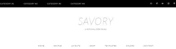 Header Navigation - Savory