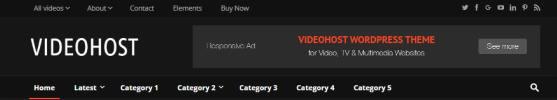 Header Options - VideoHost Blog Theme