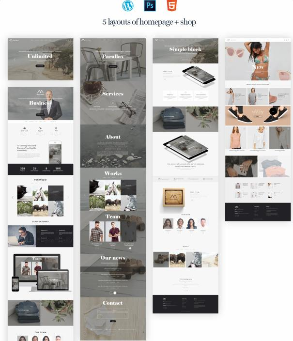 Homepage Layouts - Montblanc Theme