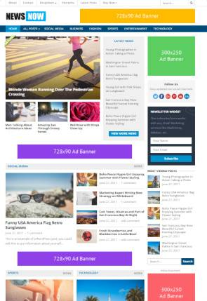 NewsNow HappyThemes - News and Magazine WordPress Theme