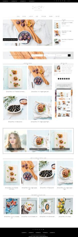 Savory - Genesis Food Blog Theme - Restored 316