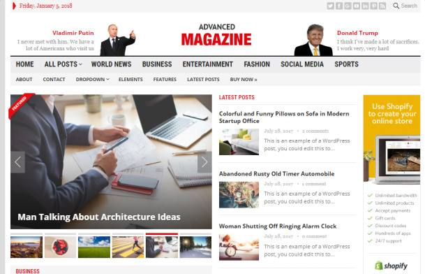 Slideshow and Header Preview - Advanced