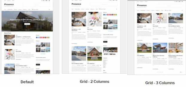 Blog Layouts - Presence WPZOOM