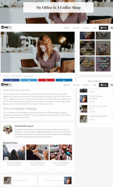 Blog Post Layout Options - Mai Lifestyle Pro