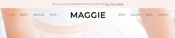 Floating Header - Maggie