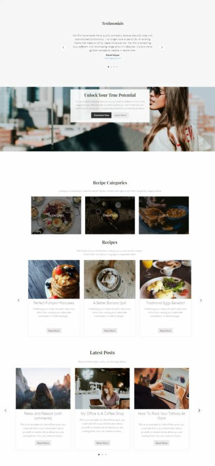 Frontpage Sections - Mai Lifestyle Pro
