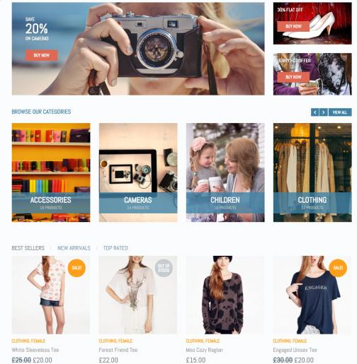 Homepage Featured Sections - eCommerce