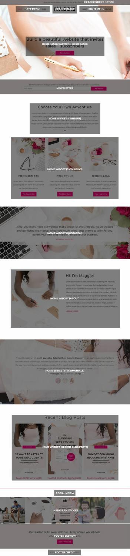 Maggie Business WordPress Theme - BluChic