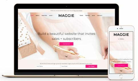 Maggie Responsive Feminine Theme - BluChic