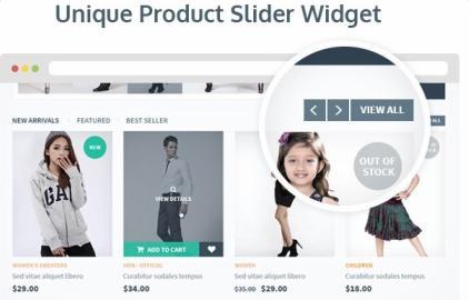 Product Carousel Slider Widget - eCommerce