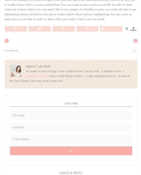 Single Blog Post - Darling