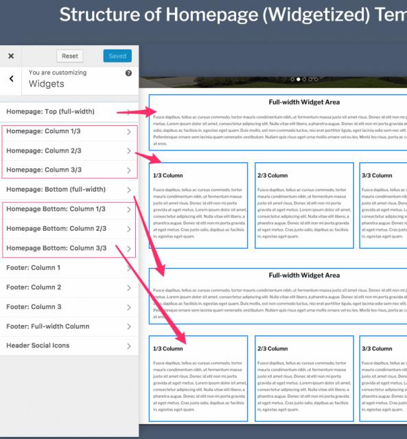 Widgetized Homepage - Presence WPZOOM