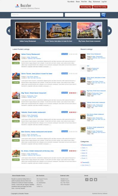 Sitemile buzzler review business directory theme worth buzzler sitemile wordpress directory theme wajeb Images
